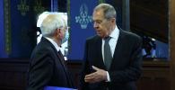 Министр иностранных дел России Сергей Лавров встретился с Верховным представителем Европейского Союза по иностранным делам и политике безопасности Жозепом Борреллом в Москве. 5 февраля 2021 года