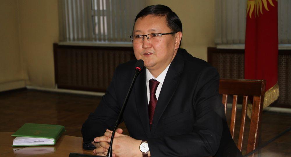 Маданият, маалымат, спорт жана жаштар саясаты министри Кайрат Иманалиев. Архив