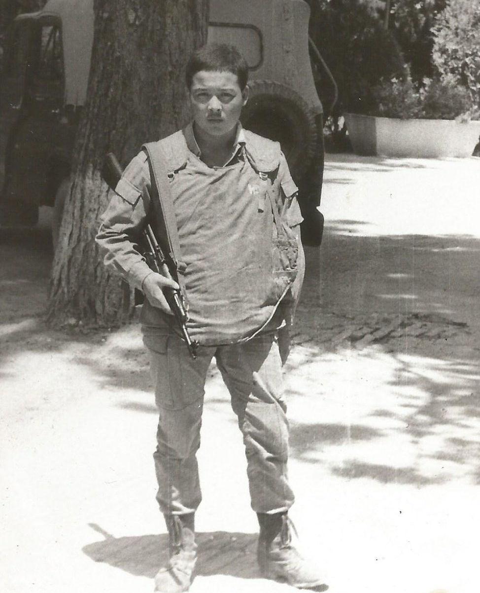Сержант воинской части № 88 828 Алмазбек Келгенбаев. Архивное фото