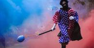 Рио-де-Жанейродогу карнавалдын катышуучусу