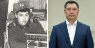 Президент Кыргызстана Садыр Жапаров во время службы в армии и в нынешнее время