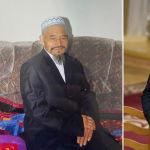 Справа на снимке президент КР Садыр Жапаров, слева — его отец Нургожо Мустали уулу, он родился в 1936 году в Китае, скончался в 2017.