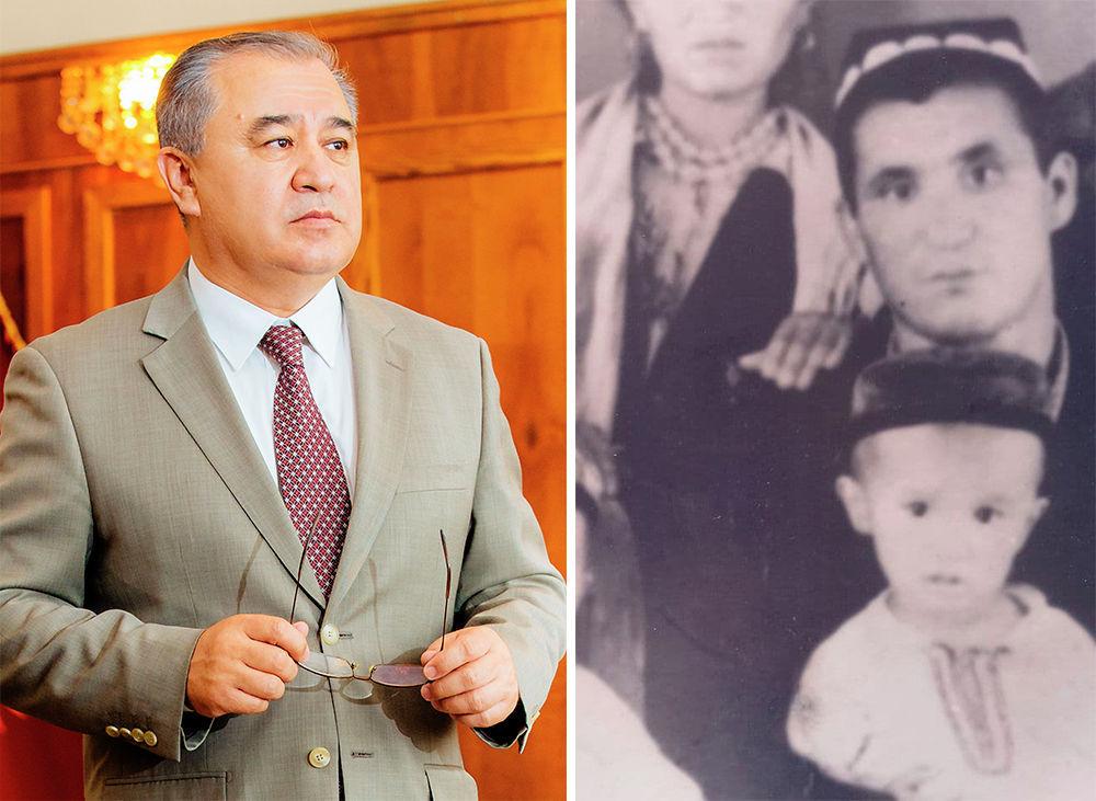 Известный политик Омурбек Текебаев и его отец Чиркеш Текебаев. Известно, что он владел ремеслами и умел работать на тракторе