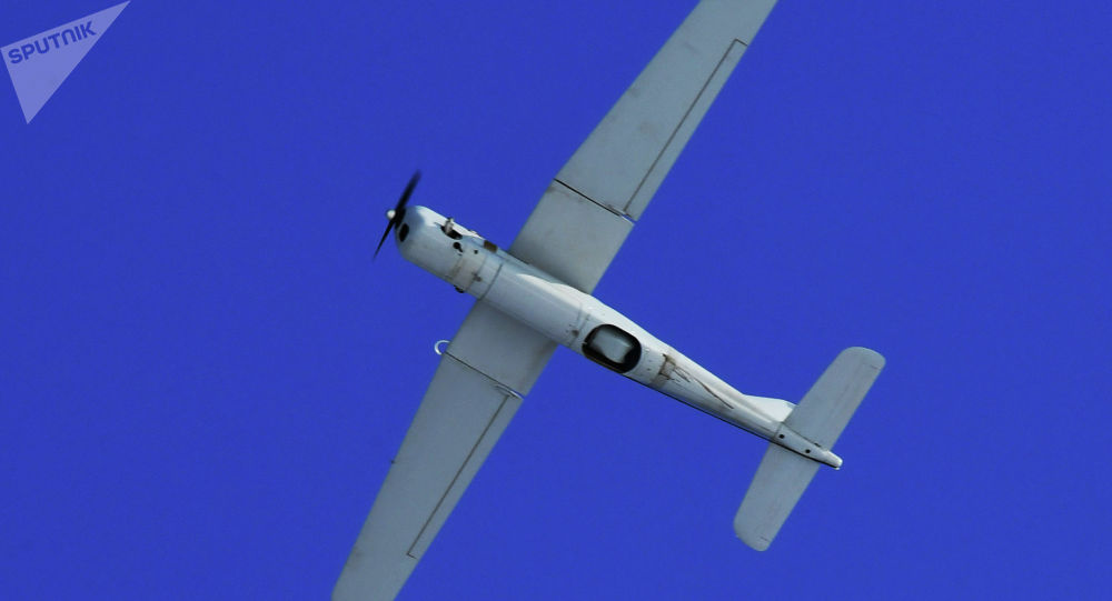 Беспилотник во время полета. Архивное фото