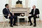 Президент Кыргызстана Садыр Жапаров во время встречи с главой России Владимиром Путиным в Москве. 24 февраля 2021 года