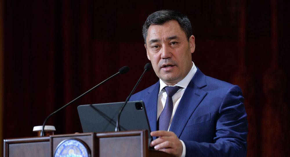 Президент КР Садыр Жапаров на встрече с кыргызстанцами, проживающими в России в рамках рабочего визита в РФ
