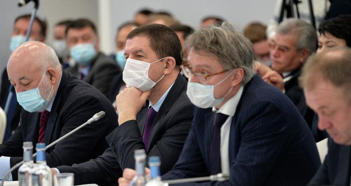 Президент Кыргызстана Садыр Жапаров встретился с представителями крупного российского бизнеса в Москве в рамках своего визита в РФ