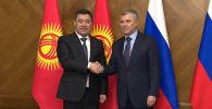 Председатель Государственной Думы РФ Вячеслав Володин встретился с президентом КР Садыром Жапаровым.