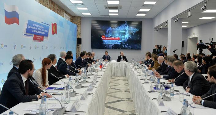 Президент КР Садыр Жапаров встретился с представителями крупного российского бизнеса в Москве в рамках своего визита в РФ