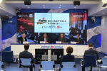 Участники презентации международного проекта Бессмертная память в пресс-центре медиагруппы Россия сегодня