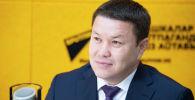 Торага Жогорку Кенеша Талант Мамытов во время интервью на радиостудии Sptnik Кыргызстан