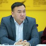 Правовой эксперт Мирлан Медетов во время круглого стола в мультимедийном пресс-центре Sputnik Кыргызстан