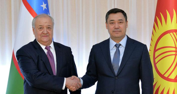 Президент Кыргызской Республики Садыр Жапаров принял министра иностранных дел Республики Узбекистан Абдулазиза Камилова, прибывшего в страну с рабочим визитом. 27 февраля 2021 года