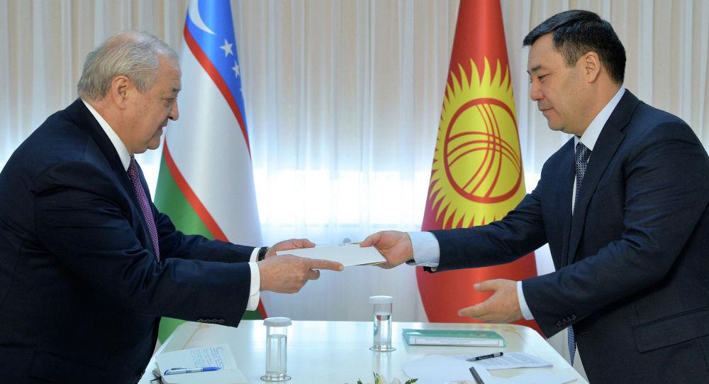 Президент Садыр Жапаров Өзбекстандын тышкы иштер министри Абдулазиз Камиловду кабыл алды