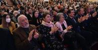 Зрители на торжественном мероприятии, посвященному 100-летию видного государственного и общественного деятеля Кулуйпы Кондучаловой.