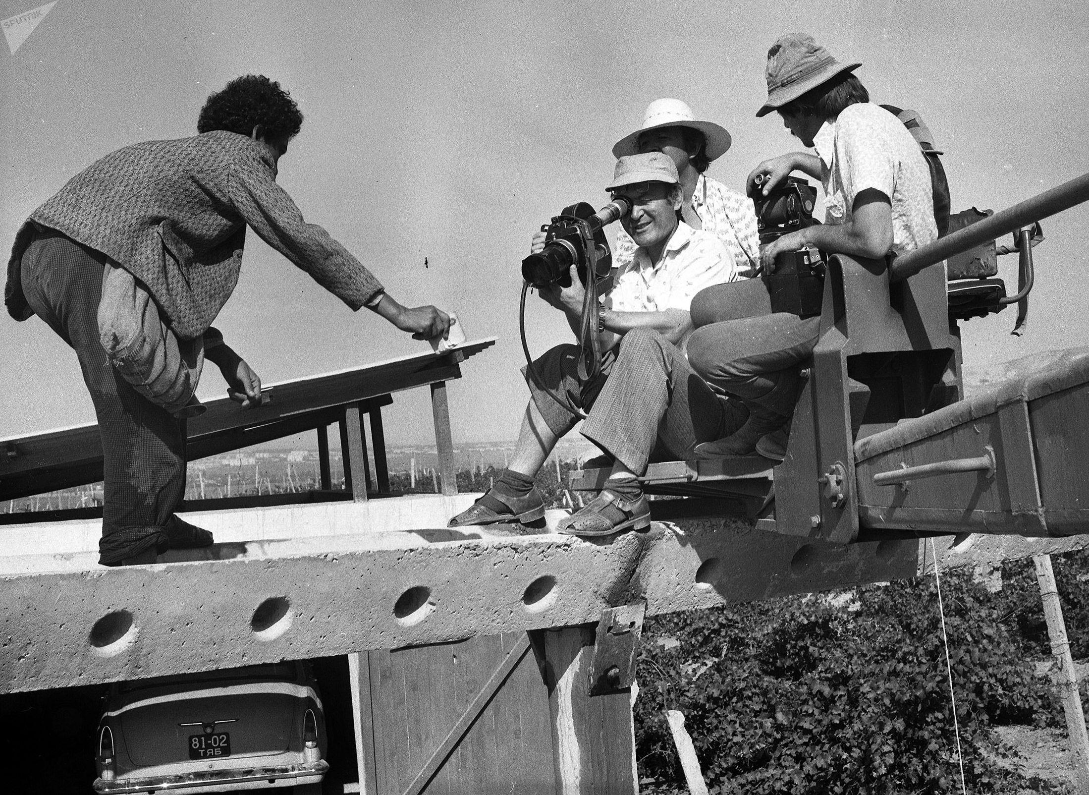 Съемки фильма Болота Шамшиева Волчья яма. Архивное фото