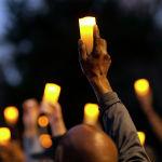 Акция памяти афроамериканца Амады Орбери, застреленного жителями штата Джорджия во время пробежки в районе города Брансуика (США)