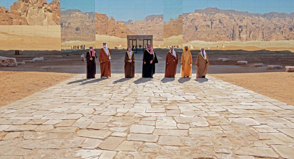 Высокопоставленные лица Лиги арабских государств во время встречи в Саудовской Аравии
