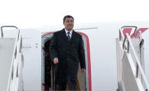 Президент Садыр Жапаров прибыл в г. Нур-Султан с государственным визитом