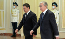 Президенты Кыргызстана Садыр Жапаров и Казахстана Касым-Жомарт Токаев. Архивное фото
