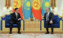 Президент Кыргызской Республики Садыр Жапаров в рамках государственного визита встретился с президентом Республики Казахстан Касым-Жомартом Токаевым.