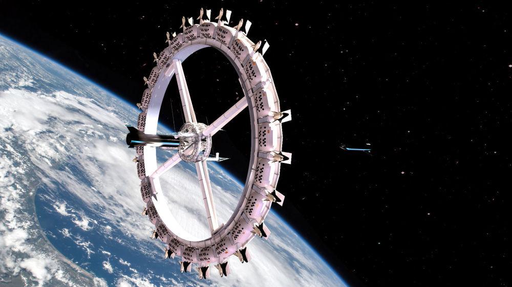 Космостук мейманкана көлөмдүү шакекче түрүндө салынат
