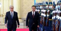 Сегодня, 2 марта, президент Кыргызстана Садыр Жапаров вылетел в Казахстан с государственным визитом. Первой была встреча с казахстанским коллегой.