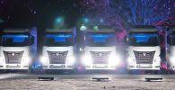 16 февраля отмечали юбилей основного российского производителя грузовиков — компании исполнилось 45 лет. В рамках этих мероприятий состоялись танцы новых грузовиков КамАЗ-54901.