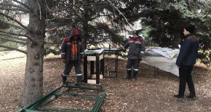 Бишкек мэриясы борбор калаанын сырткы көрүнүшүн иретке келтирүү иштери улантылып жатканын кабарлады