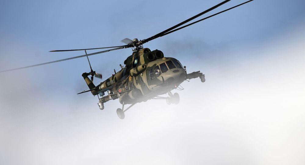 Транспортно-боевой вертолет Ми-8МТВ5-1. Архивное фото