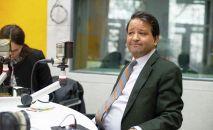 Чрезвычайный и Полномочный посол Индии в Кыргызстане Алок Амитабх Димри во время интервью