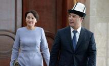Президент КР Садыр Жапаров с супругой на встрече с женщинами-представителями различных профессий