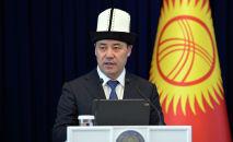 Кыргызстандын президенти Садыр Жапаров. Архив