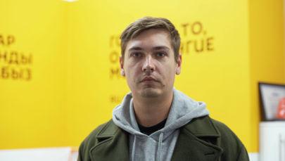 Фотограф Евгений Чистяков в офисе Sputnik Кыргызстан