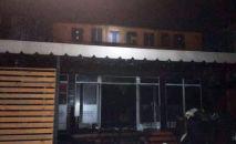 В Бишкек полностью сгорело кафе Бутчер на улице Фрунзе