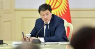 Премьер-министр Кыргызстана  Улукбек Марипов на заседании Совета по развитию бизнеса и инвестициям при правительстве КР