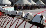 Кыргызский головной убор калпак. Архивное фото