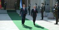 Кыргызстандын өлкө башчысы Садыр Жапаров жана Өзбекстан президенти Шавкат Мирзиёев