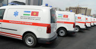 Кареты скорой помощи марки Volkswagen подаренные Кыргызстану Узбекистаном