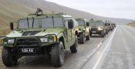 Автомобильная спецтехника к масштабным военным учениям на юге страны