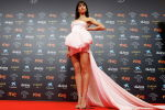 Испанская актриса Хиба Абук на красной дорожке премии Гойи в Малаге (Испания).