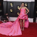 Костариканская певица Деби Нова на церемонии награждения