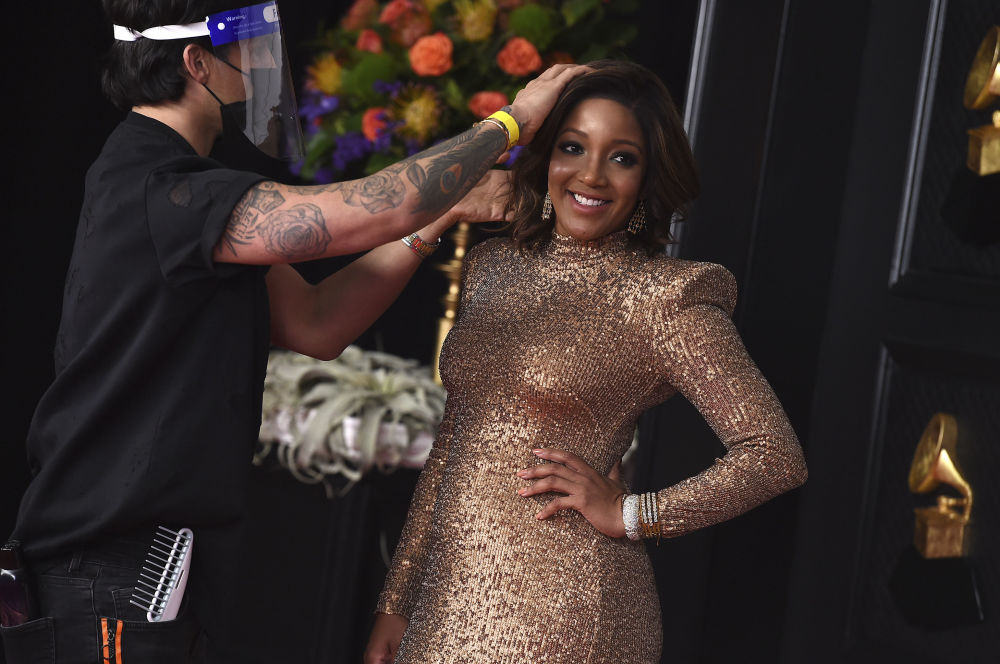 Певица Микки Гайтон на церемонии награждения Грэмми