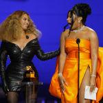 Певицы Бейонсе и Megan Thee Stallion на церемонии награждения