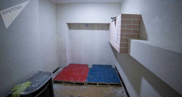 Вид на одну из комнат после ремонта в тренажерном зале для лиц с ограниченными возможностями здоровья в Бишкеке