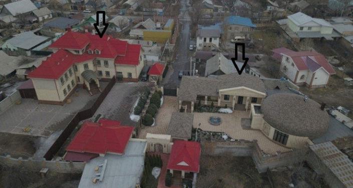 Особняки которые, по версии следствия, может принадлежать депутату Жогорку Кенеша Марату Аманкулову