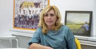 Заведующая отделом Национального центра фтизиатрии Елена Жданова в офисе Sputnik Кыргызстан