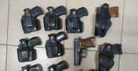 Изъятые виды огнестрельного оружия и боеприпасов за нарушение условий хранения и незаконный оборот в Бишкеке