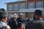 Премьер-министр Кыргызской Республики Улукбек Марипов ознакомился с ходом строительства средней школы в селе Туз Кочкорского района.