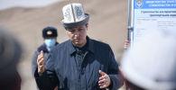 Премьер-министр КР Улукбек Марипов в рамках рабочей поездки ознакомился со строительством альтернативной дороги Север-Юг в Жумгальском районе Нарынской области